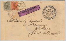 ITALIA REGNO: storia postale - Sassone 61 + 63 su BUSTA  ESPRESSO da MILANO 1899