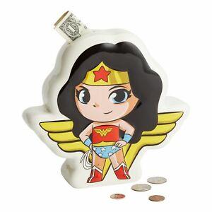 Enesco DC Comics Superfriends Wonder Woman Coin Piggy Bank 7.48 Inch