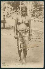 Asia Vietnam Mois woman Nude ethnic Lady original old 1920s postcard