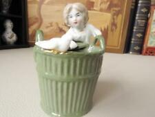 Antique German Egg Separator - Rare German Porcelain Figural Egg Separator