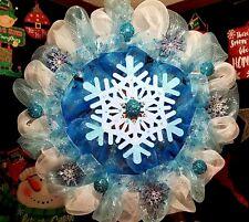 Gorgeous Christmas Winter Snowflake Wreath