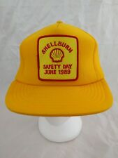 VTG-1980s Shell Gas & Oil Advertising Safety Day 1989 Patch Snapback Hat Cap