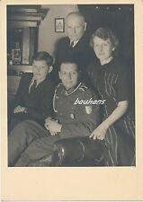 Portrait-Foto Unteroffizier vom Heer mit Krimschild -Familie  2.WK (i38)