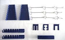 Metall Haken Werkzeughalter Set blau für Lochwand Werkstatt Garage Werkzeug Neu