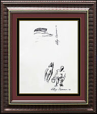 LeRoy NEIMAN Original Drawing Ink Signed Horse Racing Artwork Painting Authentic