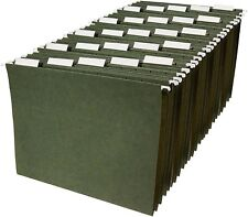 Amazon Basics Green File Folders 1/5 Tab 11 Point Stock Letter Standard - 25 ct.