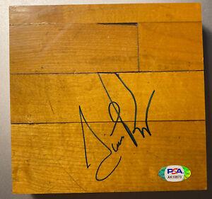 Scottie Pippen Autographed 6X6 Game Used Chicago Stadium Floor PSA COA Bulls