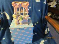 2003 Precious Moments Christmas Tree Snow Globe Window Scene Figurines w/ Box
