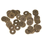 Wealth/Luck Coins Simulation Chinese Copper Coins Artefact Set for 50pcs 2cm