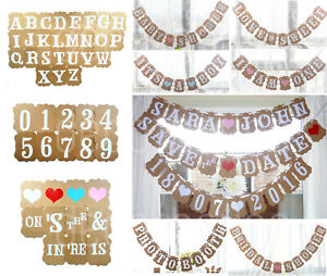 PERSONALISED BANNER Bunting Rustic Wedding Party Reception Baby Shower Birthday