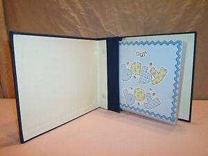 Handmade Baby Boy 1st Year Photo Album Book Life 22 p Blue Shower Memory Picture