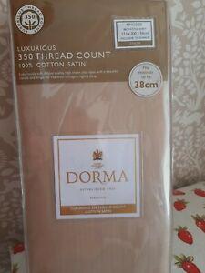 Dorma Linen beige King fitted sheet extra deep RRP £35