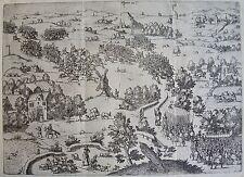 Le prince de PARME assiege BERG OP ZOOM en 1588. Gravure originale de 1615. ;;;