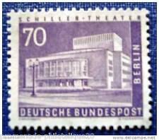ALLEMAGNE BERLIN timbre - stamp yver et tellier n°134 n** (Bâtiment)