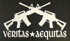 "Veritas Aequitas AR-15 Rifles - 7"" Window Decal Sticker - Boondock Saints"