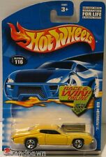 Hot Wheels Yellow '71 Plymouth GTX Collector No. 116 Blister Pack Carded Car