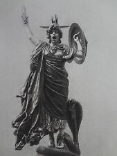 Grande Gravure J.L. GEROME BELLONE 1890 MYTHOLOGIE COBRA SERPENT GUERRE EPEE