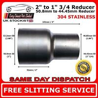 50mm to 45mm Stainless Steel Standard Exhaust Reducer Connector Pipe Tube