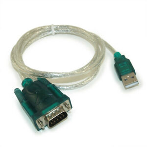 3ft USB A to Serial (Male/DB9) Converter Cable w/Windows 7/8/10 Support