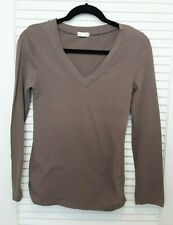 Zenana Outfitters V Neck Long Sleeve Green Top Size Medium