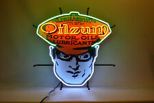 Neon sign Oilzum Motor oil and gas advertizing Can wall lamp garage light