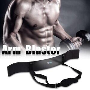 Arm Blaster Bizeps Isolator Fitness Stütze Gurt pro Bodybuilder Unterstützung DE