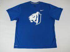 Nike Dri-Fit Tiger Head Logo Swoosh - Blue 2Xl Athletic T-Shirt B607