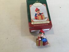Hallmark Elf Ready for Delivery Ornament Keepsake Christmas 2001 Collector Club