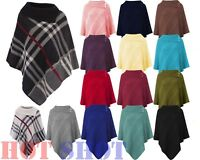 Ladies Womens Poncho Shawl Top Cardigan Winter Jacket Hoodie Scarves Cape Type