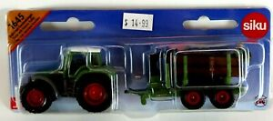 Farm Tractor with Forestry Trailer Diecast  Kids Toy ages 3+ PVC FREE
