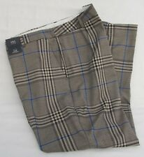 a6ff01ca761 Ladies Marks and Spencer Beige Blue Ankle Grazer Checked Slim Trousers Size  20