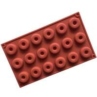 18 Cavity Dessert Chocolate Baking Pan Round Silicone Donut Mold Doughnut Moulds