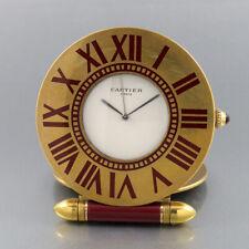 Cartier Reisewecker Tischuhr 357100418 Quarz