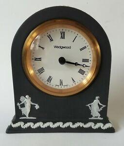 Wedgwood Black Jasperware Dancing Hours Domed Clock