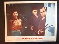"11""x 14""  ""THE DECKS RAN RED""  1958 MOVIE FILM PROMO THEATER LOBBY CARD"