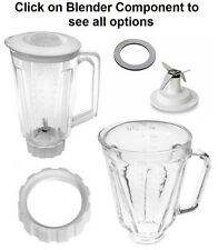 Replacement Compatible with Hamilton Beach Blenders,Blade,Gasket,Base,Glass Jars