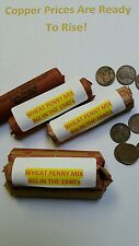Wheat Cents ALL 1949 or before, 3-Roll Lots with A Great Mix - LOT of WAR YEARS