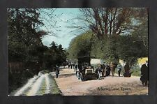 C1910 View of a car & people, Surrey Lane, Epsom