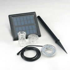 Bermuda Twilight Solar Powered Jet Sprinkler Water Feature Set 30 LED Lights