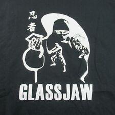 New listing Vintage Glassjaw T Shirt Ninja American Post Hardcore Black Xl