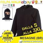 Sweatshirt Diabolik Ninja Ultras Stadium Balaclava Ninja Hood Softair Italy