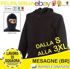 Felpa Diabolik Ninja Ultras Stadio Passamontagna Ninja Cappuccio Softair Italy