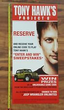 TONY HAWK Project 8 Video Game Store Display Sweepstakes Poster 2005
