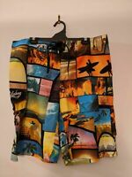 Billabong Men's Shorts Size 38 Black Yellow Board Shorts Sunshine Swim