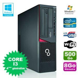 PC Fujitsu E720 E85+ SFF Core I3-4130 3.4GHz 8Go 500Go Graveur WIFI W7