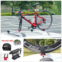 Universal Car Roof Bike Luggage Rack Carrier Quick-release Fork Lock Alloy Black