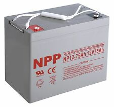 NPP   NP12-75Ah 12Volt 75Ah Rechargeable  Deep Cycle Long Life SLA Battery