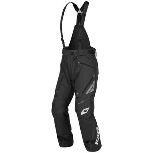 FXR Men's Mission X Winter Snowmobiling Insulated Suspenders Snow Pants - Black