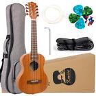 Kmise 8 String Ukulele Tenor Uke Ukelele With Strap Strings Picks Gig Bag