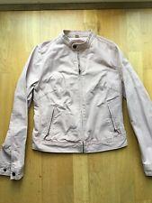 Uniqlo Dusty Pink Cropped Jacket Women Pockets Biker Size 10 M S 8 Cotton 100% C
